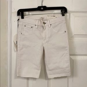 Rag & bone white skinny shorts